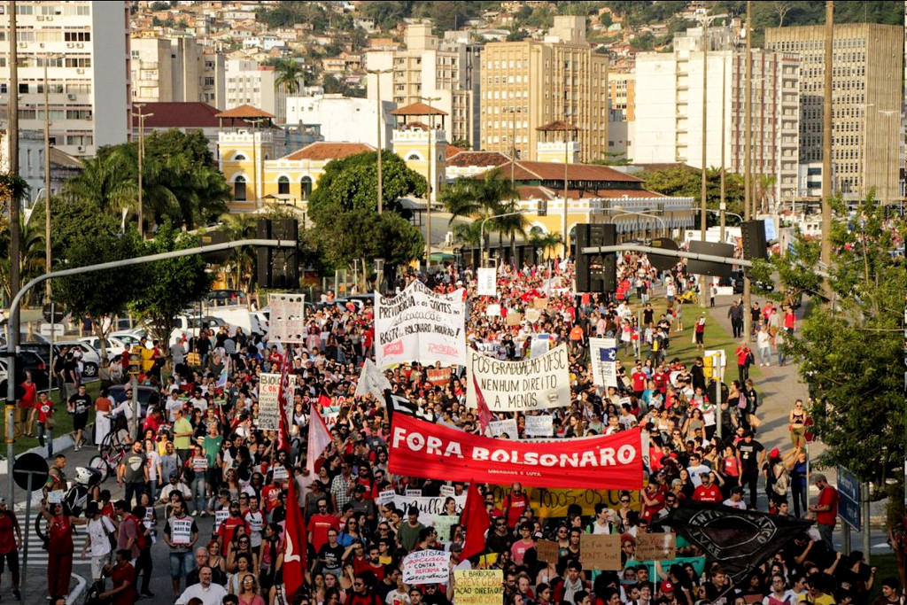 Brasilien generalstreik 14 6 2019 florianopolis