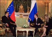 Vertiefen Zusammenarbeit: Chávez und Medwedew