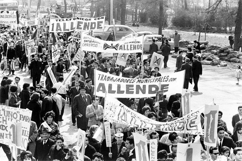 5. September 1964: Unterstützer von Salvador Allende im Wahlkampf