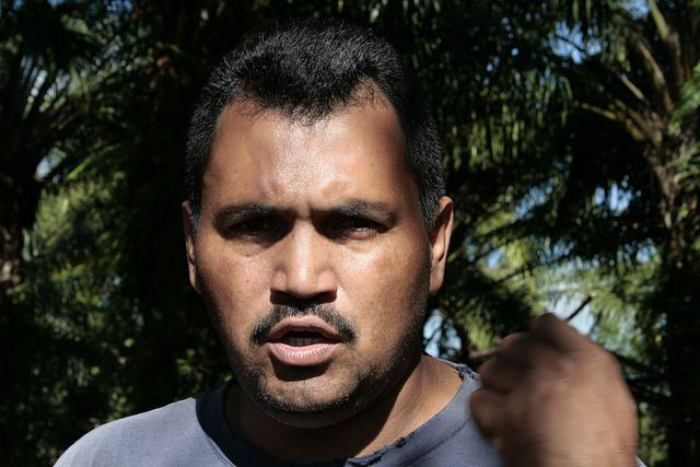 MUCA-Sprecher der Gemeinde Paso de Aguán.
