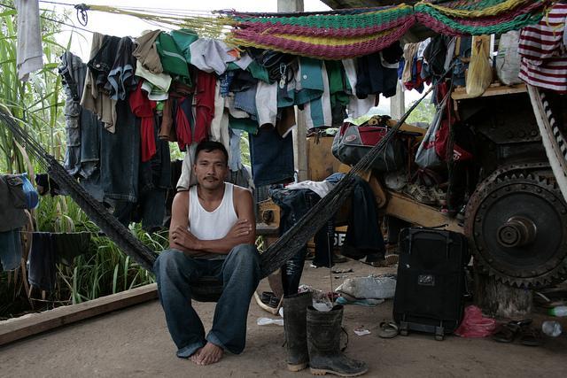 In der Gemeinde Concepción: Bauer in seiner Unterkunft.