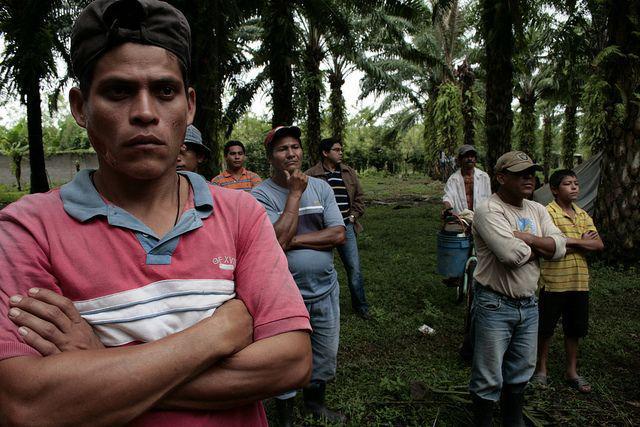 In der Gemeinde Concepción: Bauern auf besetzten Ländereien