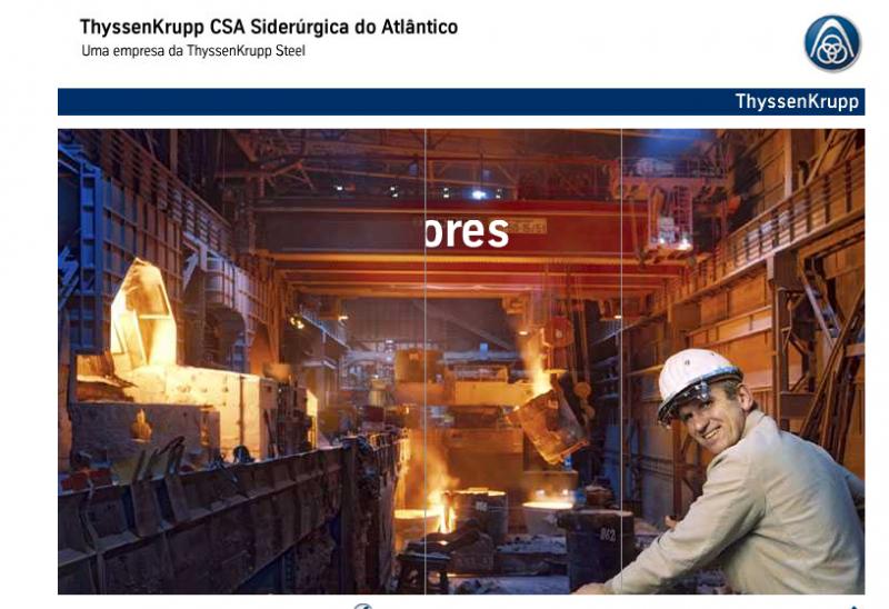 Homepage der Companhia Siderúrgica do Atlântico (CSA)