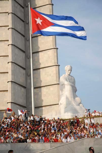 Vor dem Ehrenmal für José Martí auf dem Platz der Revolution