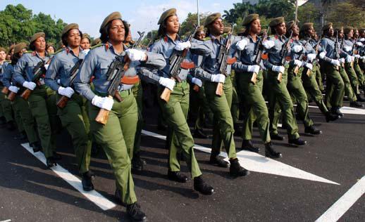 Frauenabteilung der Miliz