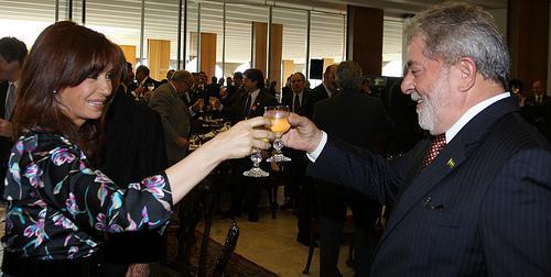 Fernández mit Brasiliens Ex-Präsidenten Da Silva