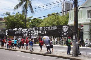 Aktivistinnen bei der Besetzung der Behörde für die Agrarreform
