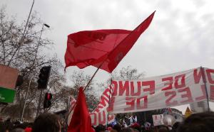 Während des Streiks in Chile