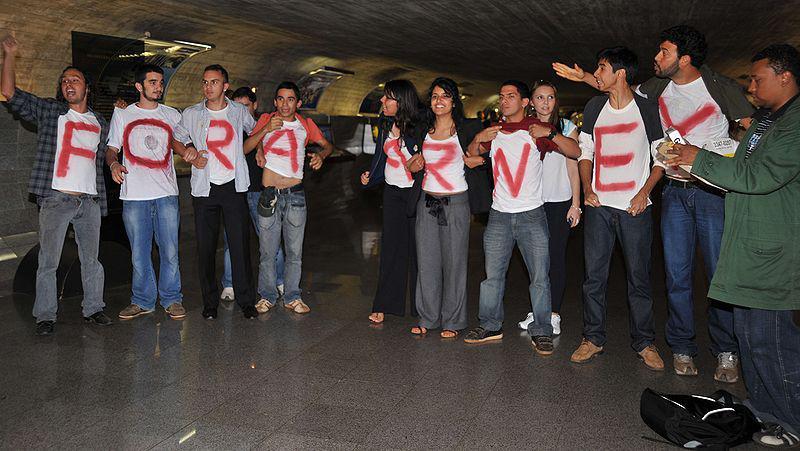 Studierende protestieren gegen Sarney