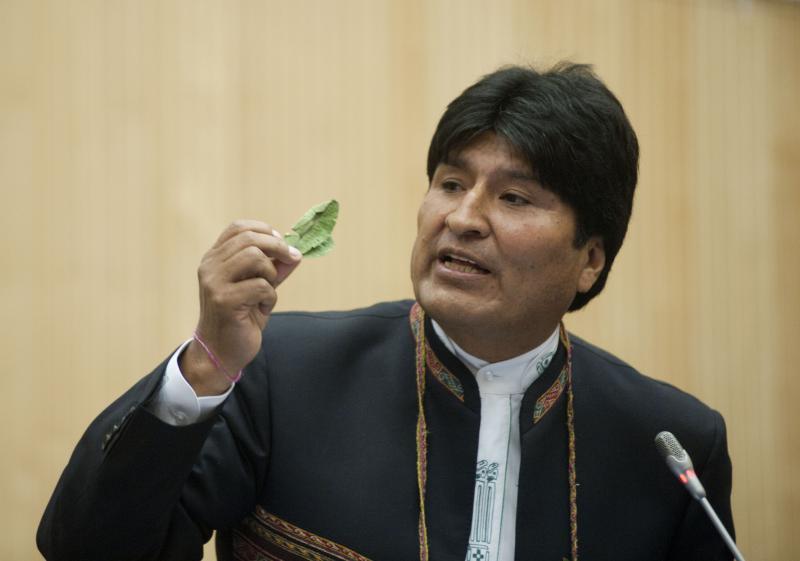 Evo Morales in Wien