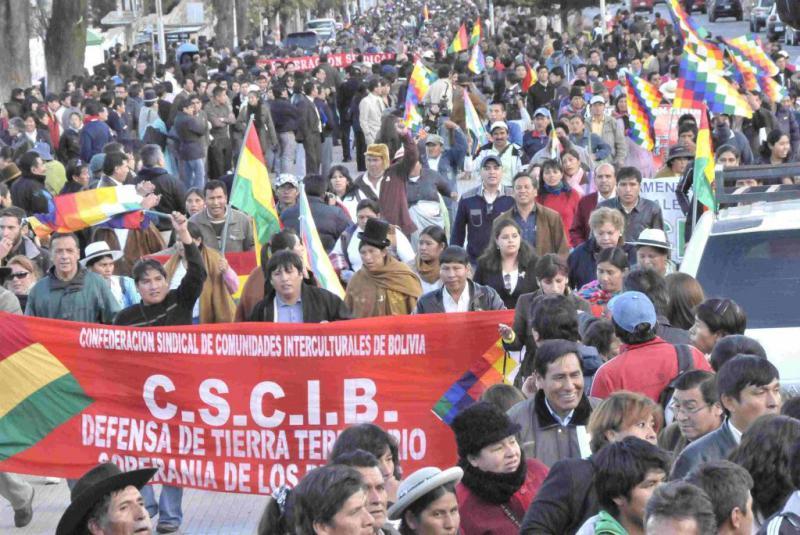 Auch andere soziale Organisationen schlossen sich der Demonstration an, hier die Gewerkschaft der interkulturellen Gemeinden
