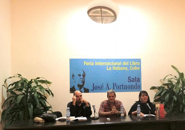 Santiago Alba, Enrique Ubitea und Diana Lio Busquet vom Verlag Editora Abril