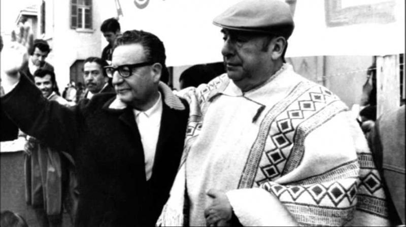 Allende und der chilenische Dichter Pablo Neruda