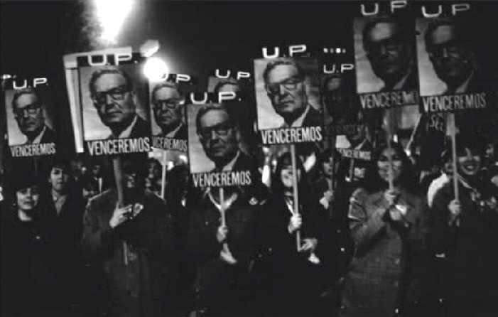 Unterstützer Allendes demonstrieren nach dem ersten Putschversuch im Juni 1973