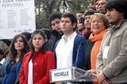 Umgibt sich gerne mit Studentenführern: Michelle Bachelet