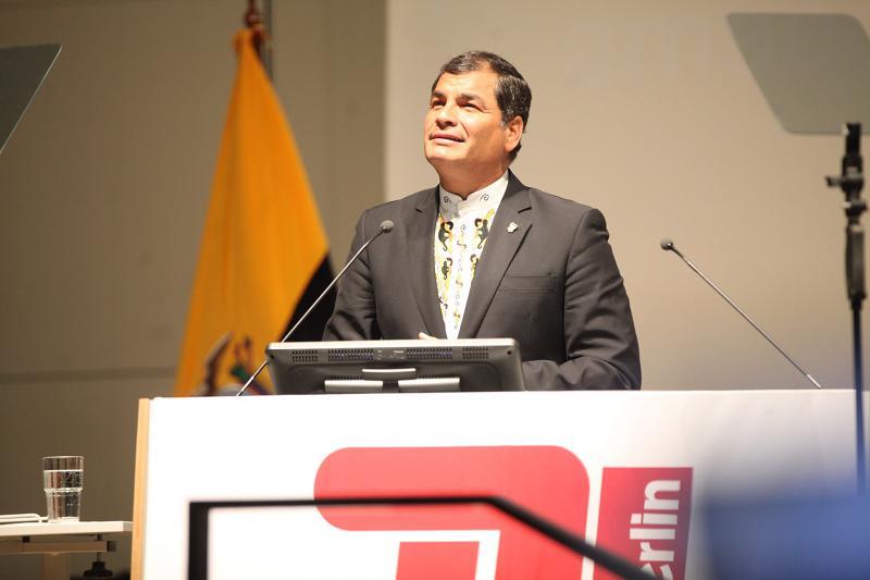 Ecuador Präsident Rafael Correa an der TU Berlin