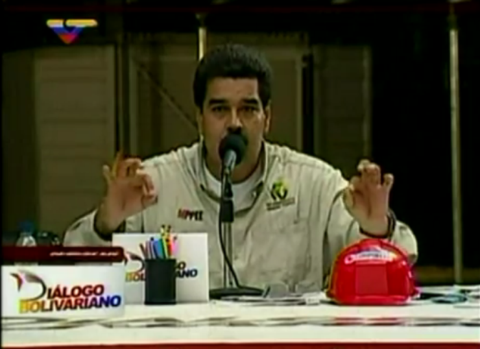 """Präsident Maduro am vergangenen Donnerstag: """"Vollständige Umstrukturierung der Organisationsformen der nationalen Regierung"""""""