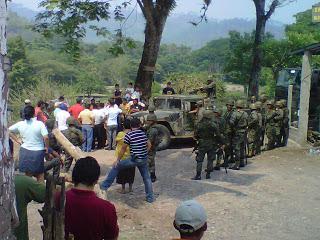 Die Region Rio Blanco wurde stark militarisiert