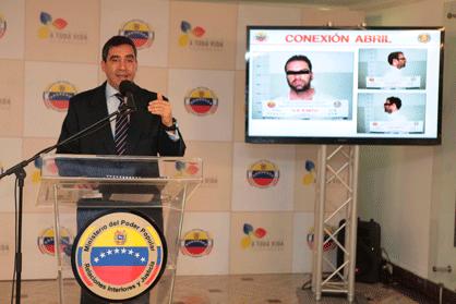 Innen-und Justizminister Miguel Rodríguez Torres bei der Pressekonferenz am vergangenen Donnerstag