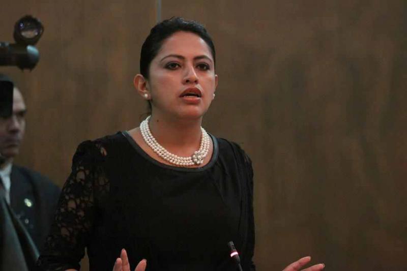 Die Abgeordnete von Alianza País, Paola Pabón, brachte den Antrag für die Gesetzesänderung ein