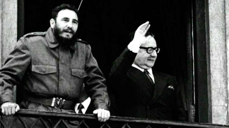 Kubas Revolutionsführer Fidel Castro besuchte Chile Ende 1971