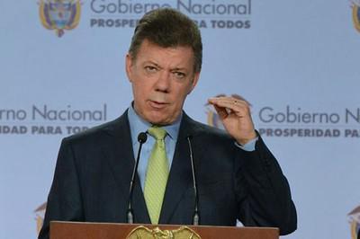 Der kolumbianische Präsident Juan Manuel Santos erkärte die Verhandlungspause für legitim