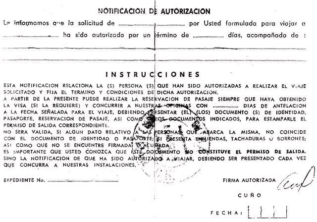 Tarjeta blanca: Faksimile der «weißen Karte»