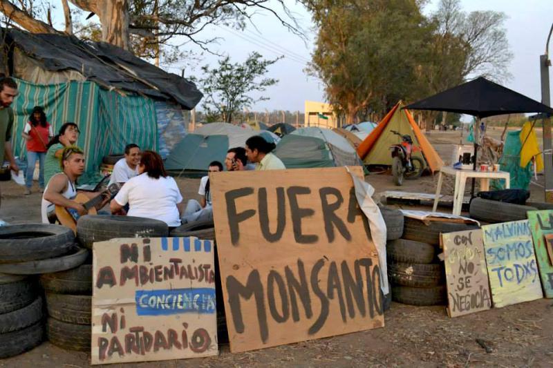 Protestcamp gegen Monsanto in Malvinas