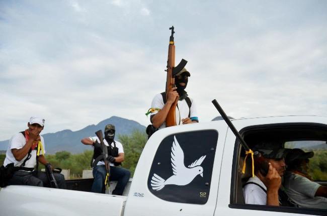 Angehörige der Selbstverteidigungsgruppen von Michoacán