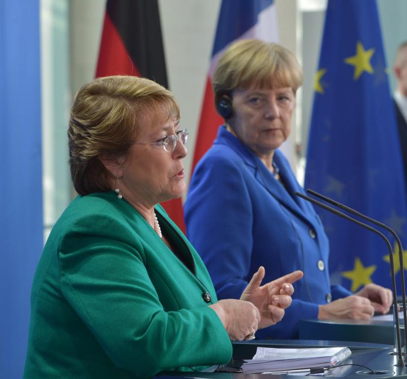 Erhofft sich mehr deutsche Investitionen im Energie- und Bergbausektor: Präsidentin Bachelet