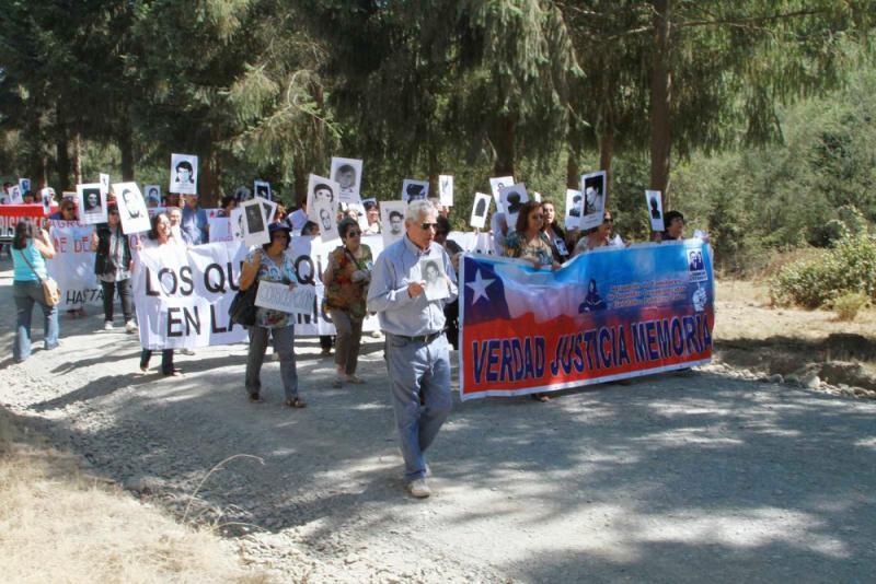 Demonstrationszug der Angehörigen