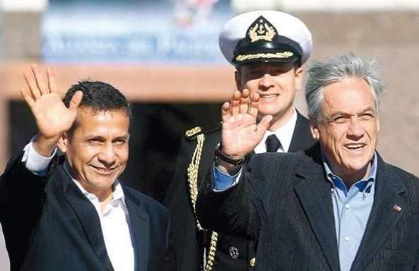 Wollen unabhängig vom Urteil gute Beziehungen: Chiles Präsident Sebastián Piñera und sein peruanischer Amtskollege Ollanta Humala