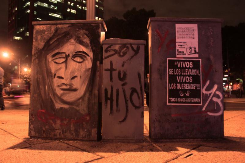 "Graffito in Mexiko-Stadt. ""Ich bin dein Sohn"""