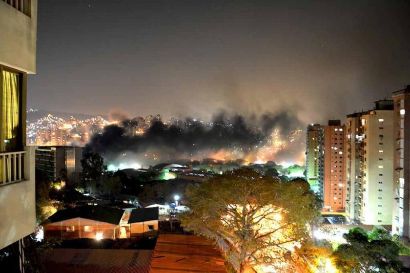 Brandanschlag am 25. März  in Caracas auf ein Lager für Haushaltsgeräte, die im Rahmen des staatlichen Wohnungsbauprogrammes an bedürftige Familien vergeben werden