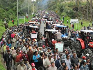 Agrarstreik in Kolumbien im vergangenen Jahr