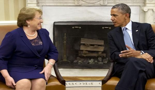 Chiles Präsidentin Michelle Bachelet und US-Präsident Barack Obama werden zu den zwölf Unterzeichnern des Transpazifischen Freihandelsabkommens gehören