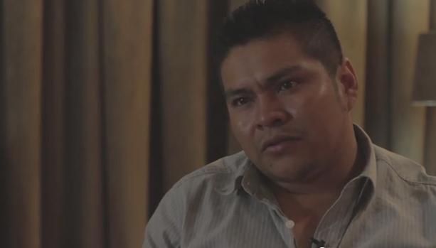 Der ehemalige Kommunalrichter von Iguala, Ulises Bernabé García, im Gespräch