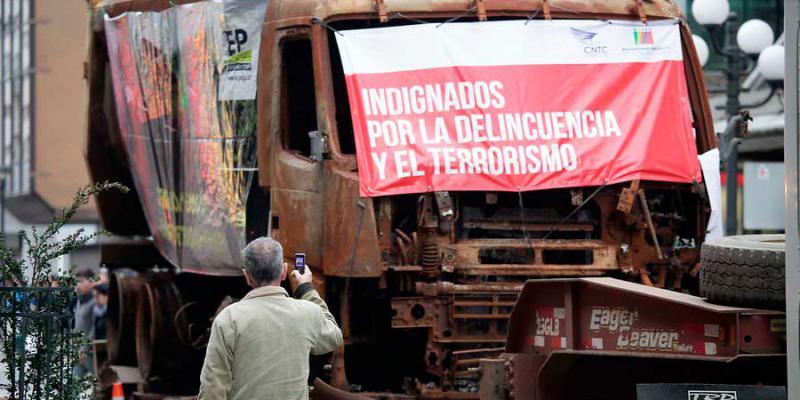 """""""Empört über Kriminalität und Terrorismus"""": Transportunternehmer demonstrieren in der Hauptstadt"""