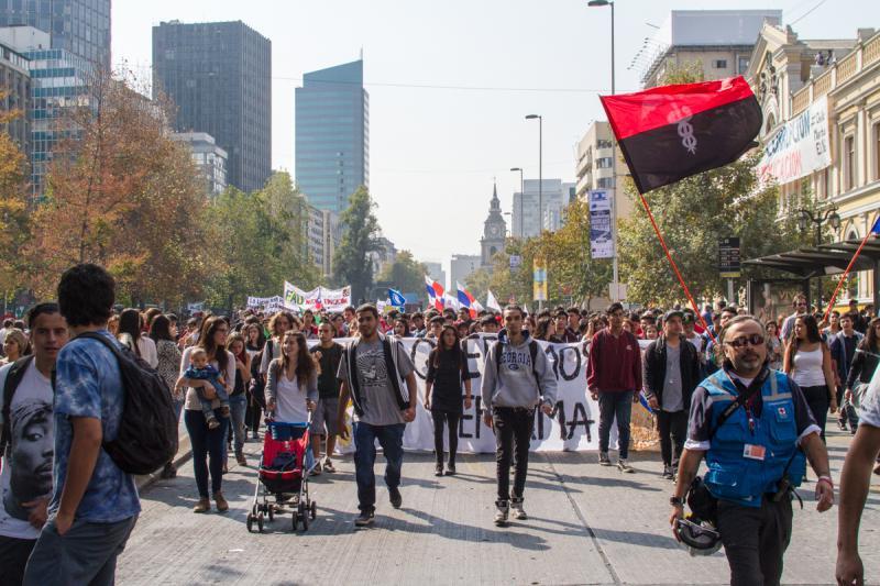 Die Straßen Santiagos waren voll