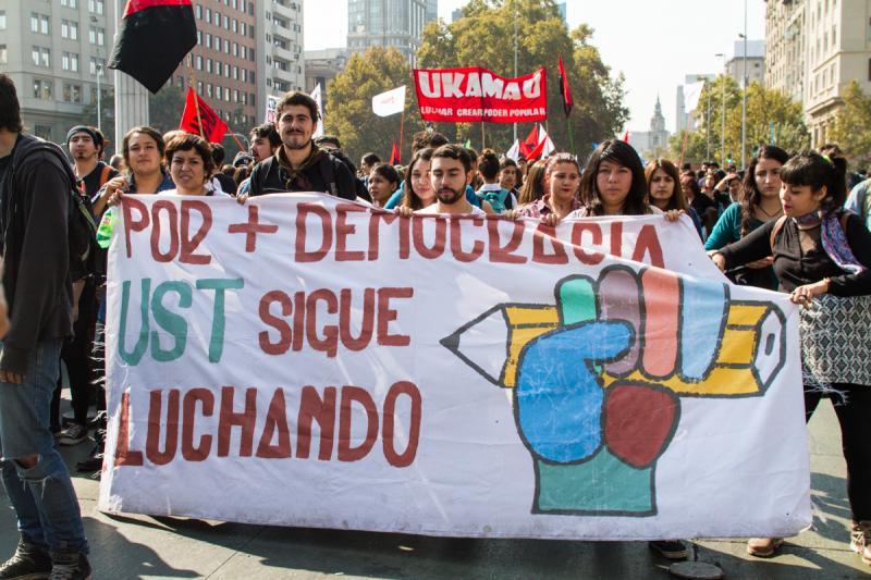 """""""Für mehr Demokratie"""" kämpfen diese Studentinnen und Studenten"""