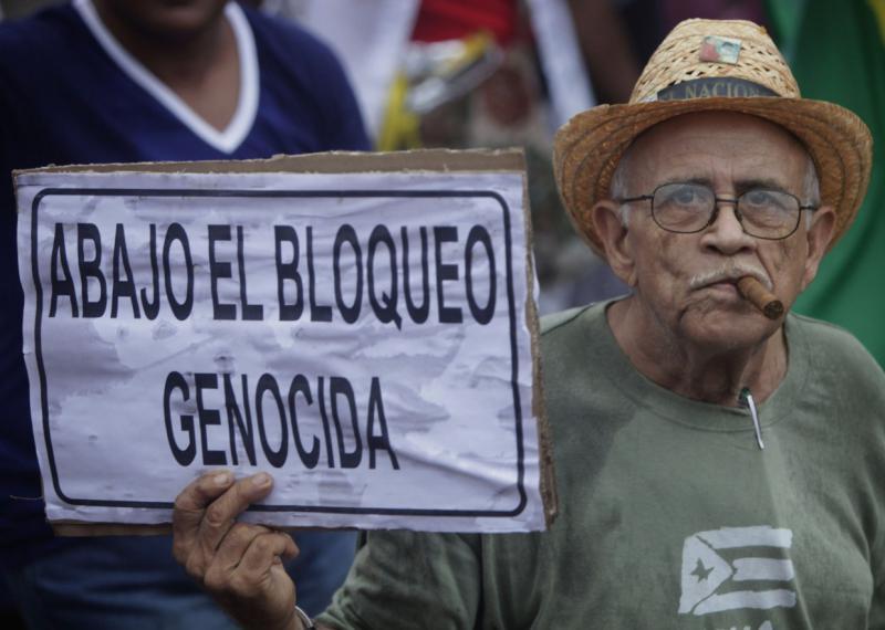 """""""Nieder mit der Blockade"""" – nach wie vor eine zentrale Forderung auch am 1. Mai"""