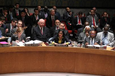 Venezuelas Außenministerin Delcy Rodríguez vor dem UN-Sicherheitsrat