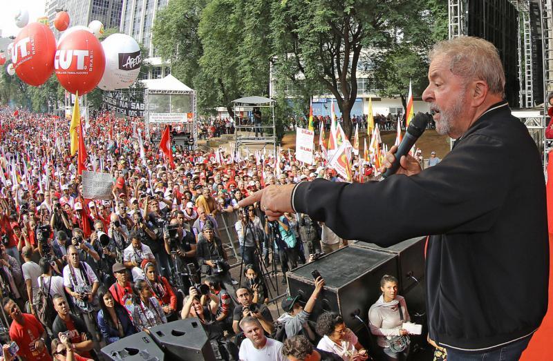 Auf der Abschlusskundgebung sprach auch Ex-Präsident Luiz Inácio Lula da Silva