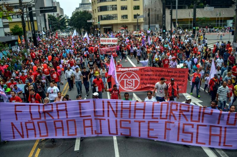 Demonstration gegen Cunha und die Sparpolitik in São Paulo am Sonntag
