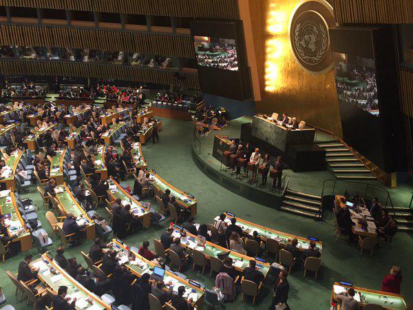 Blick in den Saal der UN-Generalversammlung in New York
