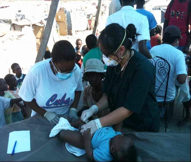 """Mitarbeiter der """"Brigade Henry Reeve"""" in Haiti"""