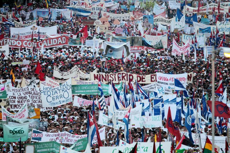 Über eine Million Kubaner nahmen an den Feierlichkeiten teil