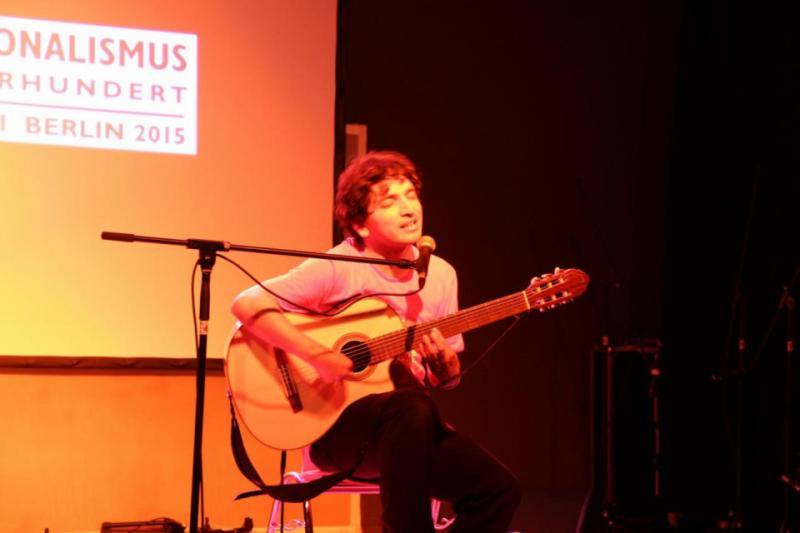 Zum Abschluss gab es Lieder von Nicolás Miquea