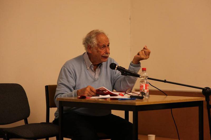 Victor Grossmann sprach bei der dritten Veranstaltung über die Erfahrungen der internationalen Brigaden im spanischen Krieg (1936-39) und ihre Bedeutung für heute