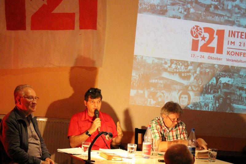 Referenten waren Leandro Uzquiano Arriaza, Botschaftsrat von El Salvador, und Matthias, ein Aktivist der damaligen Nicaragua und El Salvador Solidarität in der BRD